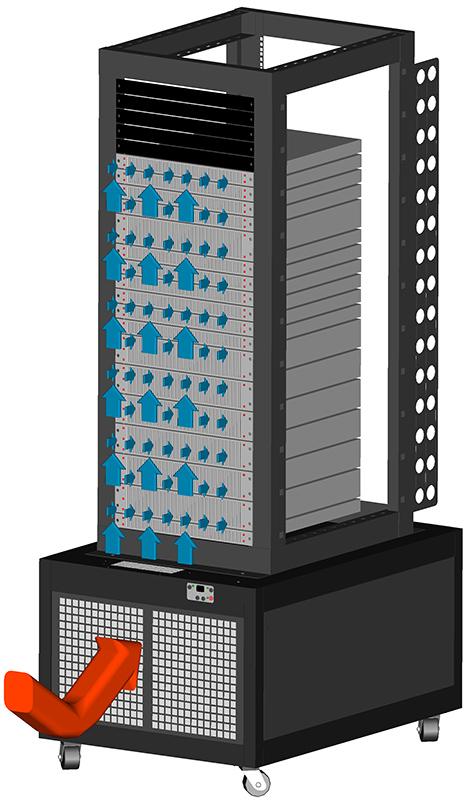 Image of MRCS13 Cabinet Rendering1 MRCS13:  4 Post Racks